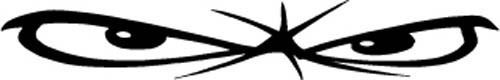 Evil Eyes Truck Decal / Sticker  vinyl car tattoo | eBay