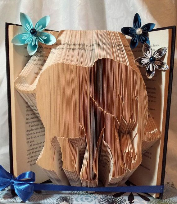 Book folding pattern for an Elephant FREE by BookFoldingForever