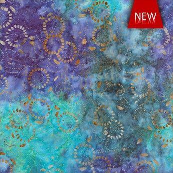 Batik Rayon - Medora Flora Lake - Distinctive Sewing Supplies