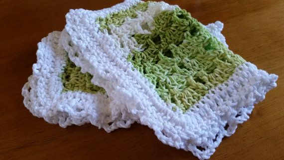 Washcloth Baby Spa Facial Cotton Crocheted by softtotouch on Etsy