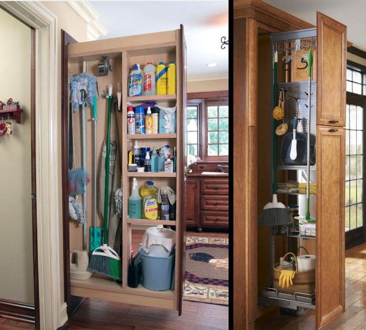 Фото из статьи: Швабра в деле: 19 идей хранения хозяйственных вещей