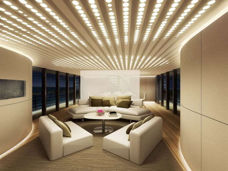 Luxury Yacht Interior Design Luxury Yacht Design Featuring a large yacht ,  wrap around window forward, and strong hull-side windows that of.