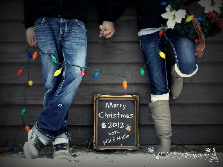 Write a sign for Christmas photo - will save money by only having to print out prints instead of pay for Christmas cards.