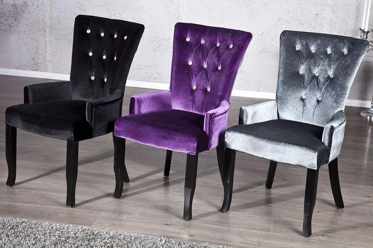 Jedálenské stoličky - moderné : Luxusná stolička Jewelry čierna
