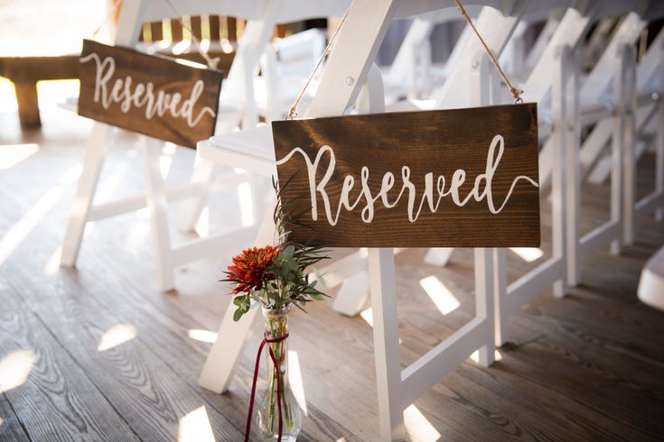 Reserved Wedding Sign, Wedding Decor, Wedding Ceremony Decor, Rustic Wedding, Wedding, Wedding Church Decor, Wedding Reception Decor by BluffSideDecor on Etsy