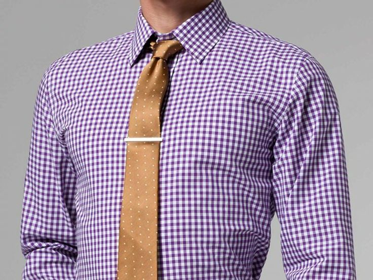 Purple gingham shirt gingham shirt gingham and shirts for How to match shirt and tie