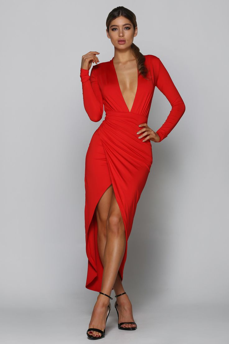 Bad AF Fashion - Valentine Dress In Red