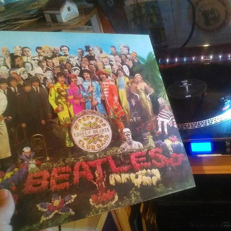 ...Happy 50th Birthday Sgt.Peppers Lonely Hearts Club Band!!! ...'bought this release on it's 20th anniversary in 1987 when HMV records sold it for the 1967 price (£1.40) to the first 20 customers at their stores in Ireland. Sgt. Pepper's album cover was designed by the pop artists Peter Blake and Jann Haworth from an ink drawing by McCartney. The album's lyrics were printed in full on the back cover, the first time this had been done on a rock LP. It was also the first Rock album to win…