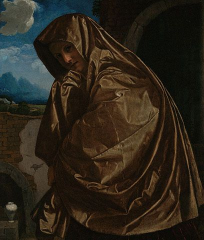 Saint Mary Magdalen at the Sepulchre (Getty Museum) 'Mary Magdalene Approaching the Tomb', Gian Girolamo Savoldo, 1535-40