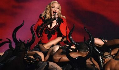 Just one of the great English brands we make for: Madonna's dancers @Grammys 2015 wearing 20-eye Gripfast boots.