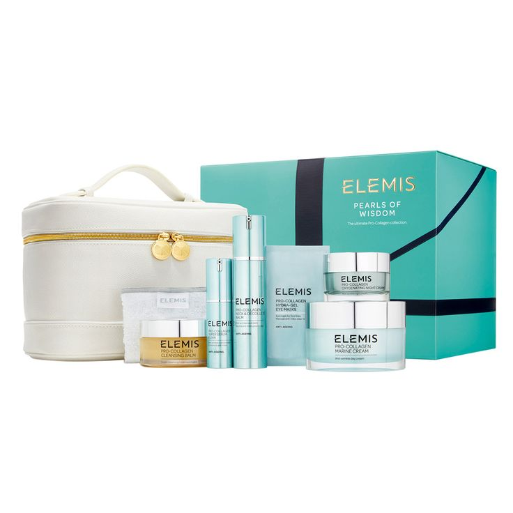 Elemis Pearls of Wisdom. Skincare that harnesses the power of the sea to deliver anti-ageing action. With contents worth over €400, this great value set is just €249.