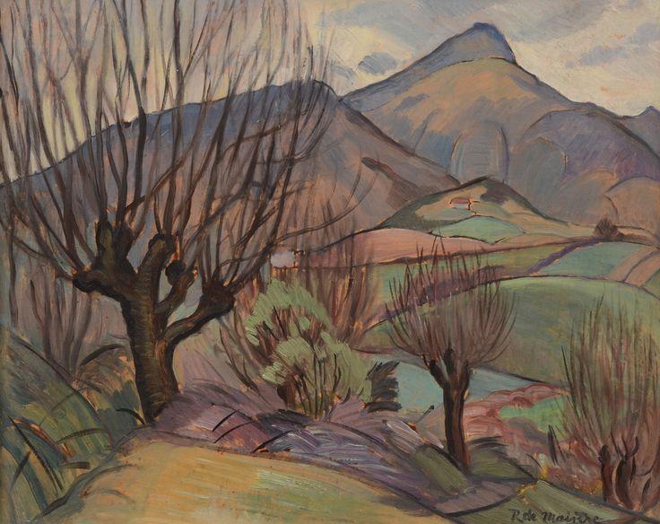 ROY DE MAISTRE (1894-1968) Saint Jean de Luz, France c.1930 oil on board