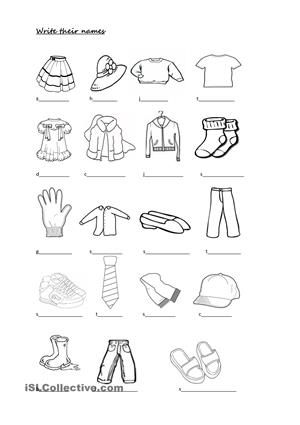 1fed9dc46ea04cdd5edae673d9e9349e--exercises-worksheets Worksheet Clothes And Colours on preschool matching, for different seasons, review kids, for kids, crossword puzzle,
