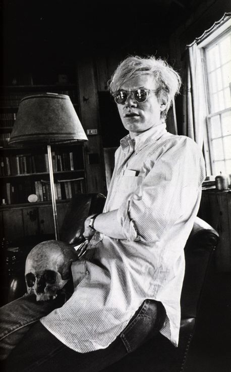 Andy Warhol photographed by Peter Beard, at Montauck, c1972.