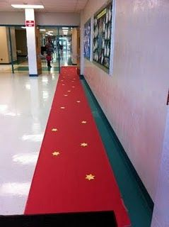 AMAZING what this PTA did for teacher appreciation week - rolled out the red carpet...and other awesome things!