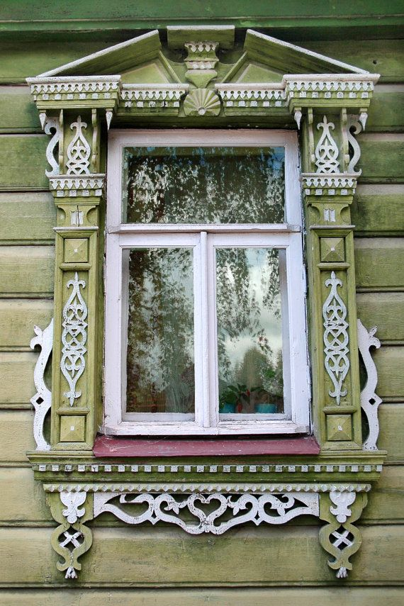 Decorative Russian Window. Woodwork. Dacha by AlenovPhotography