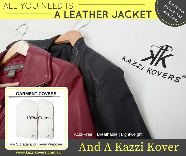 Leather Jacket protection in 100% Cotton Garment Bags.  For home, storage and travel purposes. Breathable. Acid-Free.