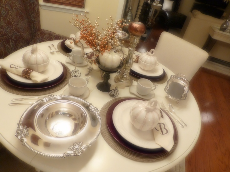 Here is the tablescape from my Thanksgiving breakfast. Check out my youtube channel to see the actual set-up process.