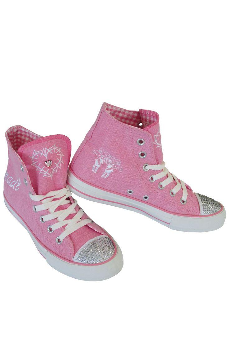trachten sneaker damen   Trachten Sneaker Pink Glitter - Trachtenzone Onlineshop
