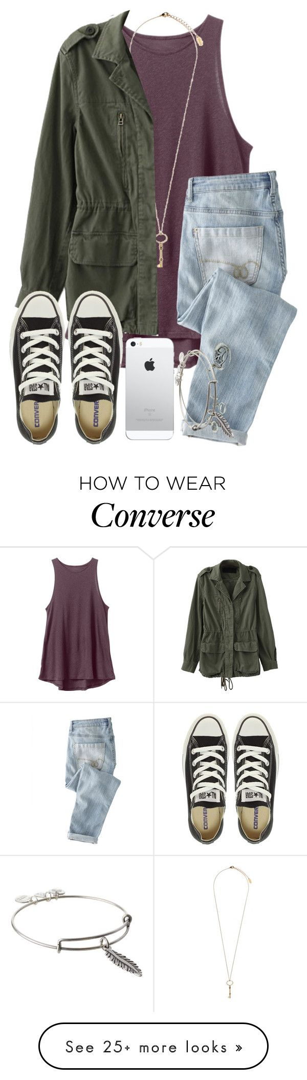 """""""Me: Gets Welcomed To Fandom. Gets Trapped. Me RnHelp. Fangirl Gone Crazy."""" by twaayy on Polyvore featuring RVCA, Topshop, Wrap, Converse and Alex and Ani"""