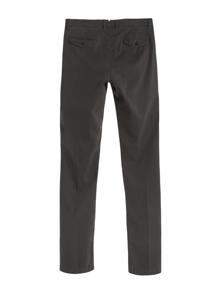 C.P. Company Garment Dyed Stretch Poplin Trousers in Grey
