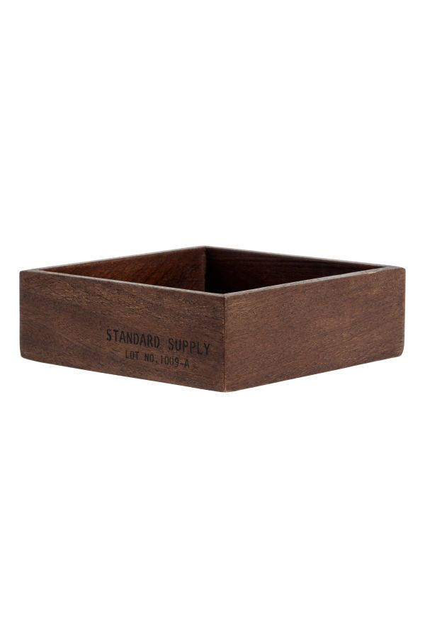 Check this out! Small wooden tray with printed text at one side. Size 2 x 6 x 6 in. - Visit hm.com to see more.