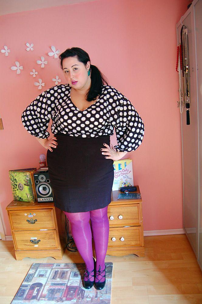 bighipsredlips,Bright Tights, Polka Dots, Bighipsredlip, Colors Tights, Fatshion Fatty