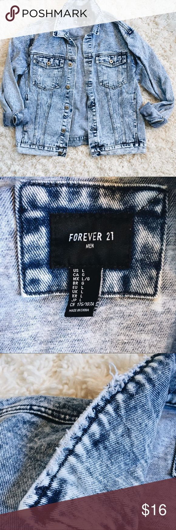 Forever 21 Men's Jean Jacket Forever 21 Men's Jean Jacket🌼 I loved this jean jacket but I have way too many, so time to pass it on! Gently worn! Forever 21 Jackets & Coats Jean Jackets
