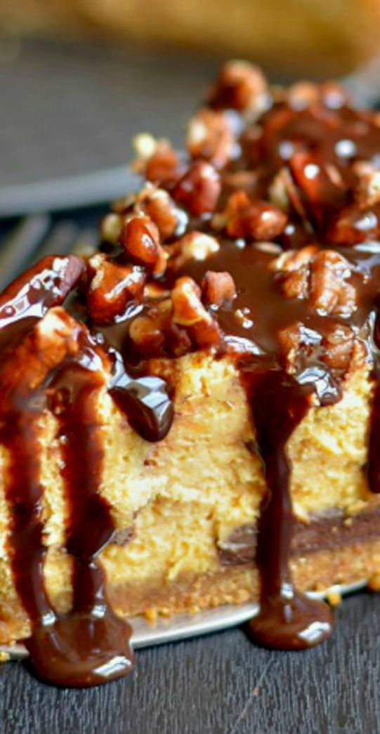 Chocolate Pumpkin Cheesecake Recipe — Dishmaps