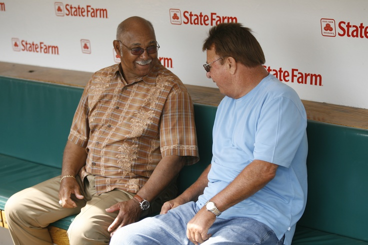 """Billy Williams and Ron Santo- would have loved to be """"the fly on the wall"""" for that conversation!"""