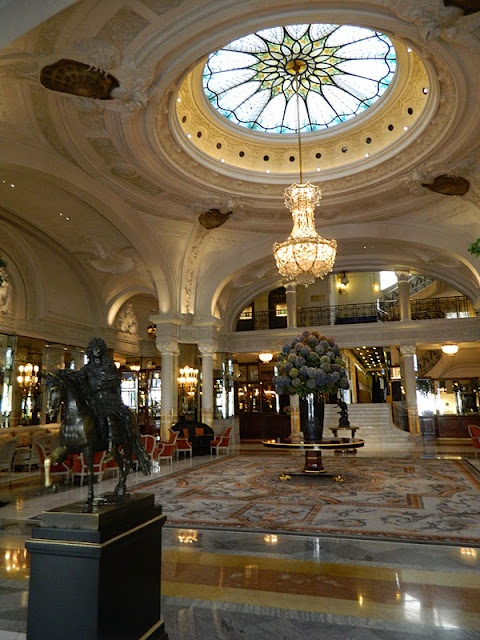 Lobby of Hotel de Paris, Monaco.