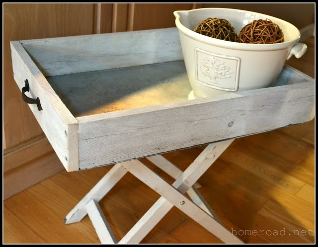 DIY:: Galvanized Steel Tray Or Tray Table