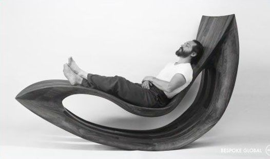 Rocking chair + hammock + wood = AWESOME        http://www.apartmenttherapy.com/la/bespoke-global-because-sometimes-you-want-it-your-way-148897: Lounges Chairs, Rocks Chairs, Coffey Lounges, Aphrodite Lounges, Rocking Chairs, Aphrodite Rocks, Furniture Ideas, Bespoke Global, Michael Coffey