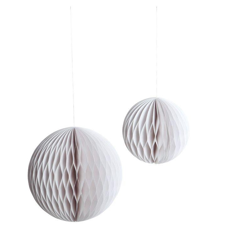 Paper Art White ornament L, 2-pakk i gruppen Innredningsdetaljer / Dekorasjon / Julepynt hos ROOM21.no (116093)