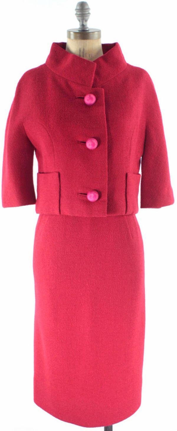 Vintage 1960's Jackie style mod dress - etsy