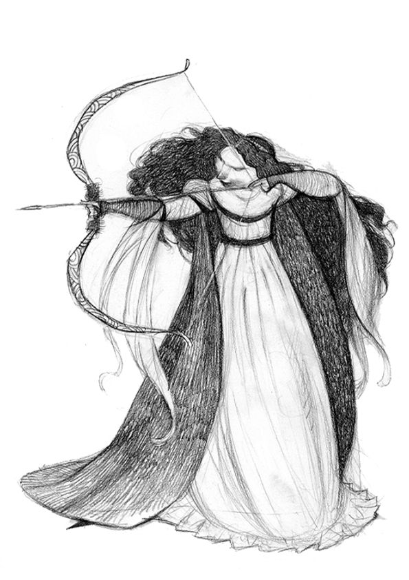 The Art Of Animation, Carter Goodrich / Princess Merida concept art ★ Find more at http://www.pinterest.com/competing/