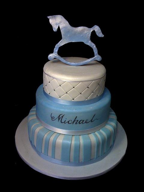 41590 rocking horse CREATIVE CAKE ART FIRST BIRTHDAY CHRISTENING AND BABYSHOWER CAKES by www.creativecakeart.com.au, via Flickr