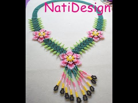 COLLAR ESTILO HUICHOL 2 - YouTube