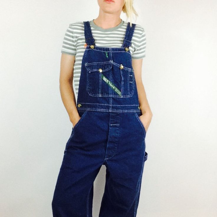 Dark wash KEY overalls -- just listed!