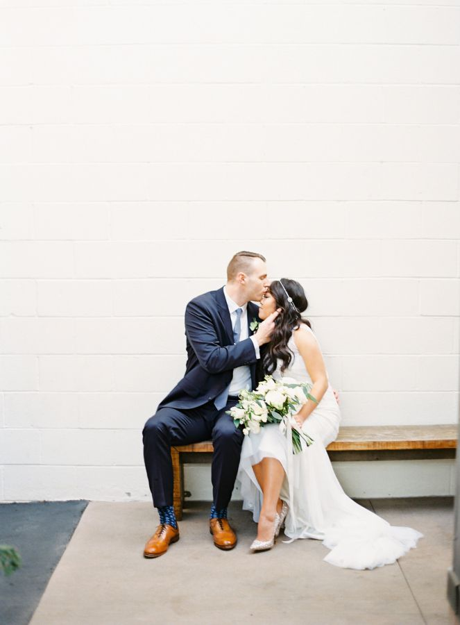 sally + houston | Magnolia Gown from BHLDN | the great romance photography | image via: style me pretty | #BHLDNbride