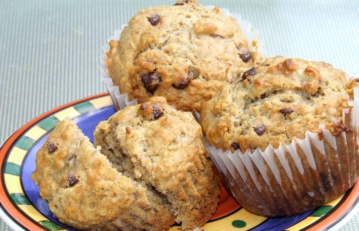Muffins à l'avoine et aux bananes