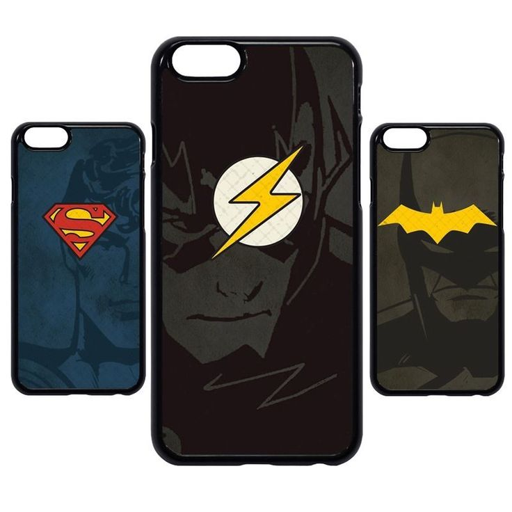 Superhero The Flash Superman Batman Logo Case Cover For