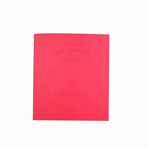 HKYIYO 120 Pockets PU Leather Instax Mini Camera Album Note Book for Fuji Instant Mini 70 8 7 25 50s 90 Films - Red