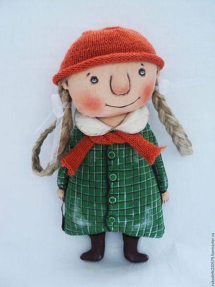 """Fabric doll / Коллекционные куклы ручной работы. Ярмарка Мастеров - ручная работа. Купить Текстильная кукла """"Девочка Осень ll"""" !. Handmade."""