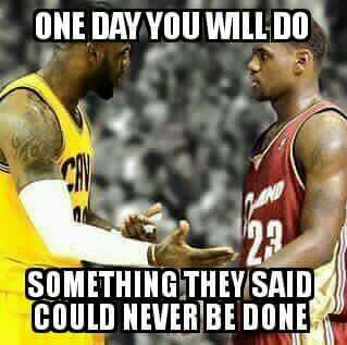 LeBron to his younger self.