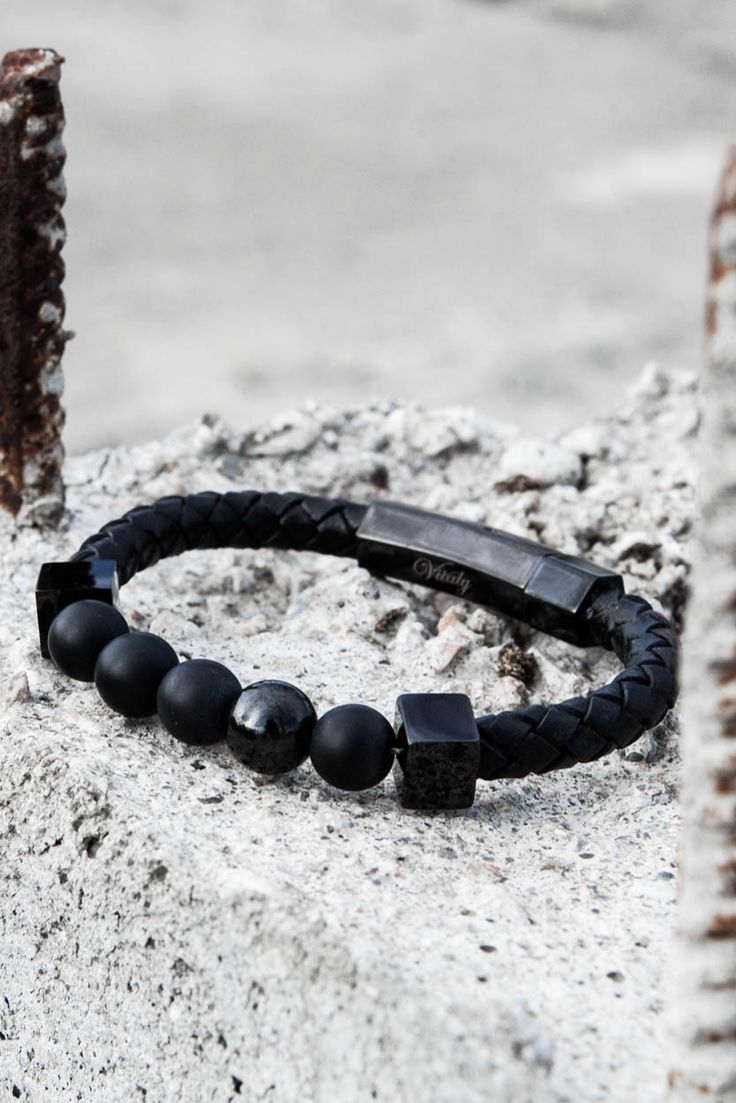 """Perlen"" is the German word for ""beaded."" Made from 100% genuine leather with hits of polished stainless steel, the Perlen is our contemporary take on the classic beaded bracelet. Put it to work by we"