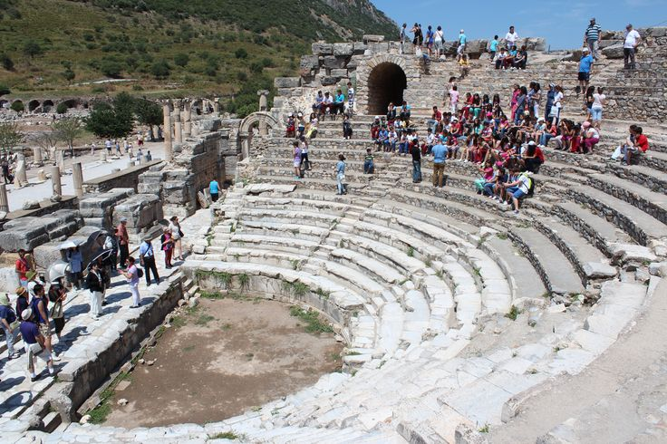 One of the ancient amphitheaters in Ephesus, Turkey.