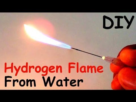 How to Make a HYDROGEN FLAME GENERATOR from WATER at HOME | DIY - YouTube