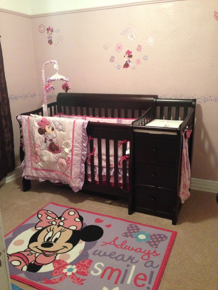 Minnie mouse nursery baby girl nursery pinterest Baby designs for rooms