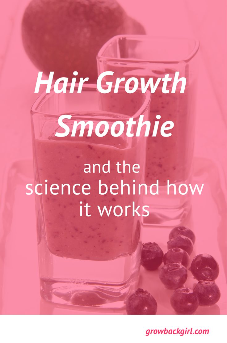 Hair Growth Smoothie and the Science Behind How it Works. Click through to read more or Re-pin for later!